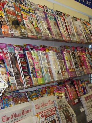 Local and national newspapers and magazines