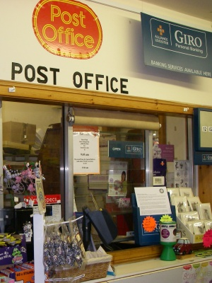 Post office including banking services